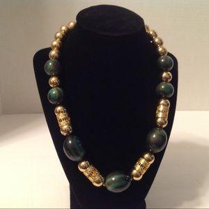 Arthur David Gold Tone Chunky Necklace
